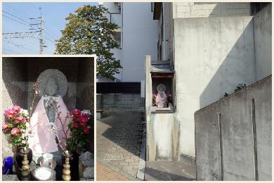 観音像(一般家屋玄関口)【桜子ちゃん観音】