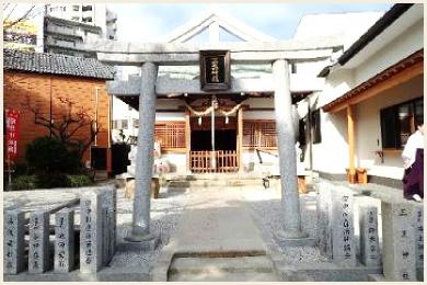山王神社【再建鳥居・狛犬】