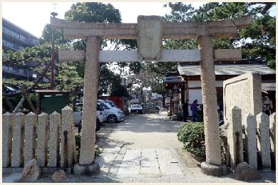 魚崎八幡神社【再建鳥居】