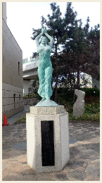 東灘消防署東側小広場内【慰霊碑・ブロンズ像】